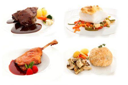 Fleisch- und Fischgerichte