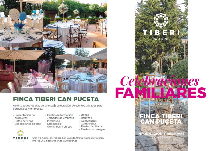 menús para comuniones y celebraciones familiares de la Finca Tiberi Can Puceta