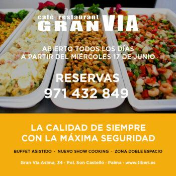Abrimos el Restaurant GRAN VIA con buffet asistido, show cooking y zona doble espacio